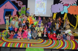 """ACT One Fall 2014 """"Seussical Jr."""" cast being silly"""